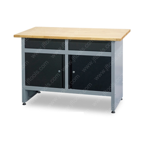 Wood Top Stool Workbench with Drawer
