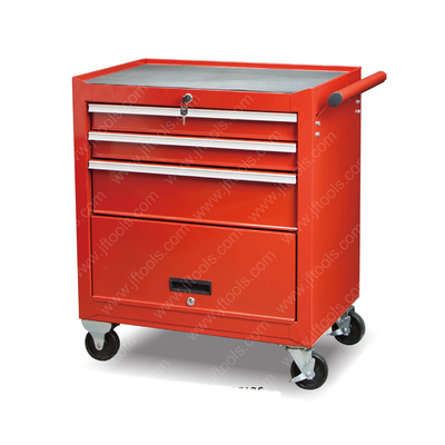Large Rolling Wall Red 3 Drawer And 1 Door Tool Cabinet