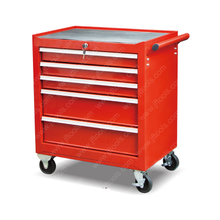 Middle Rolling 5 Drawer Tool Storage Cabinet